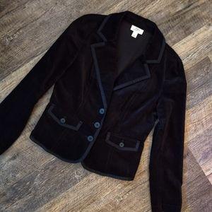Loft Black velvet blazer